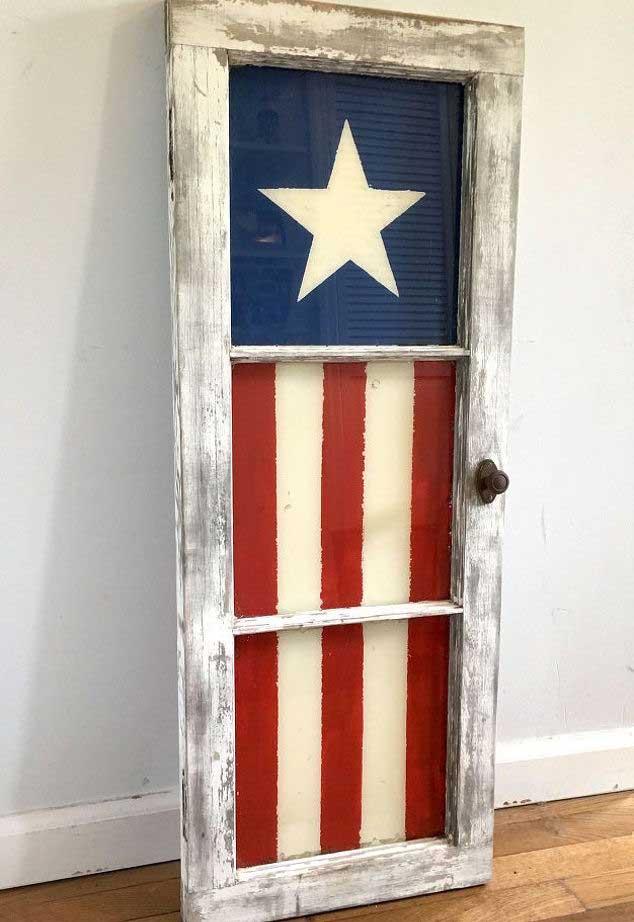 painted window flag