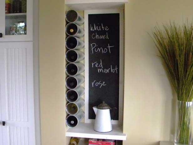 diy wine rack using heat ducts