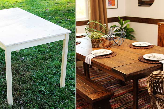 ikea hack farmhouse table