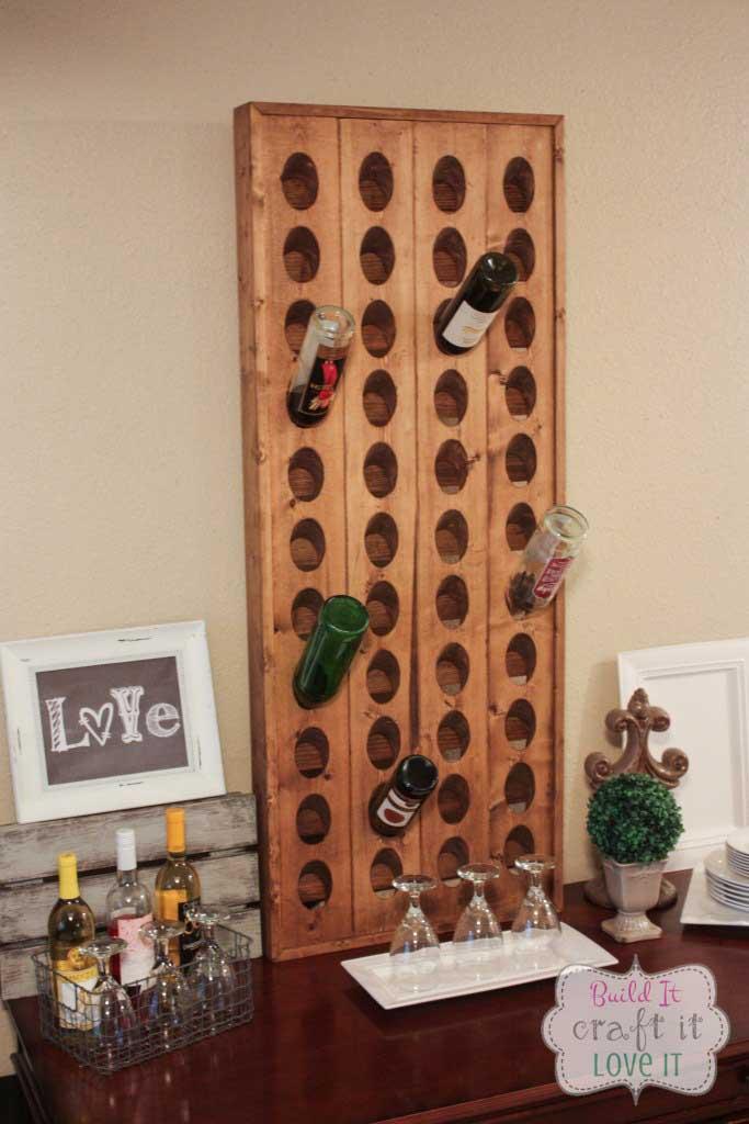 diy riddling wine rack