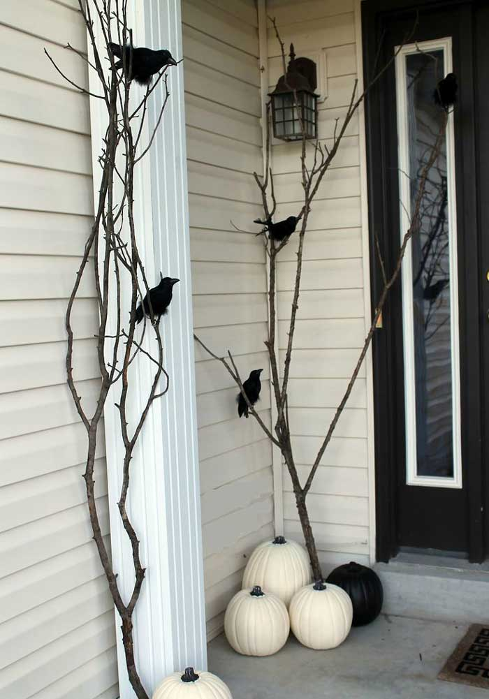quick Halloween crafts- branches