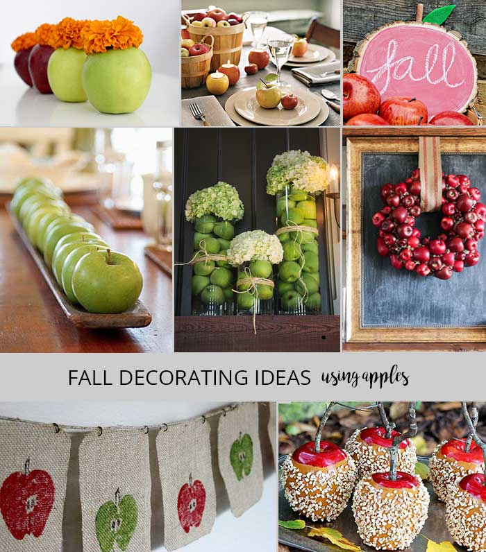 Fall decorating projects - decorating with apples