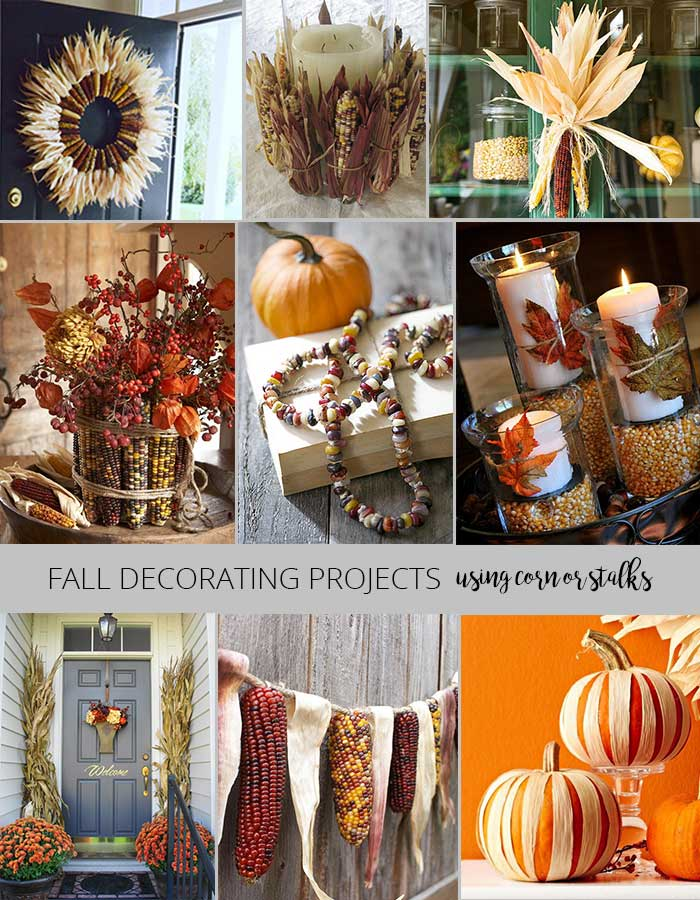 Fall decorating projects - decorating with corn
