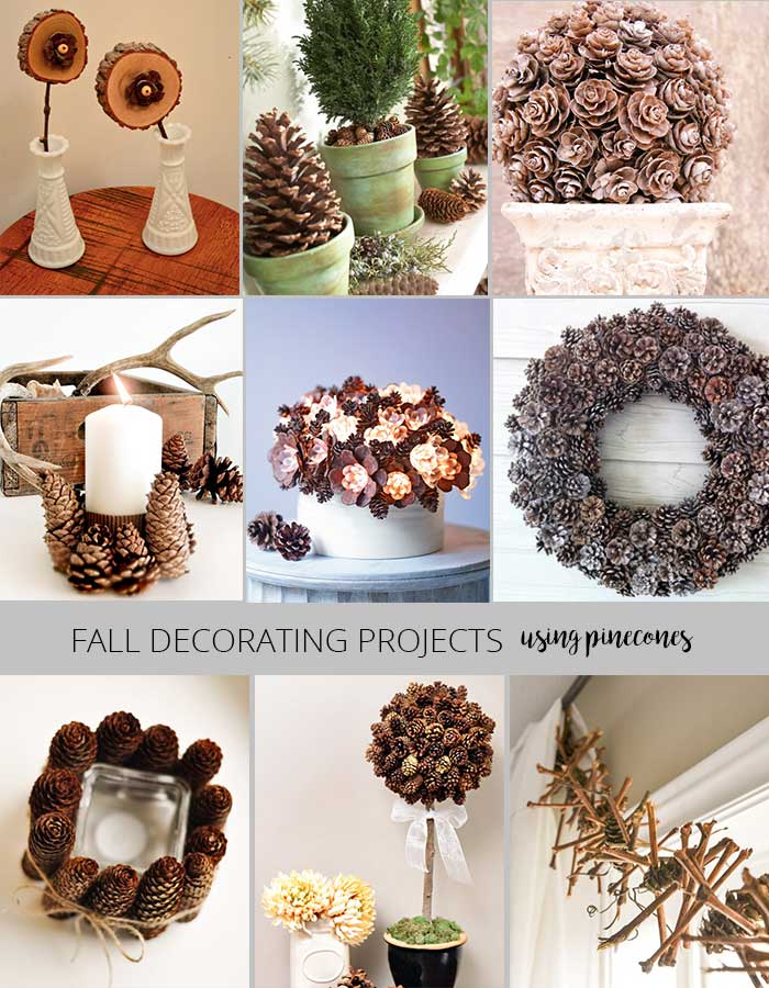 Fall decorating projects - decorating with pinecones