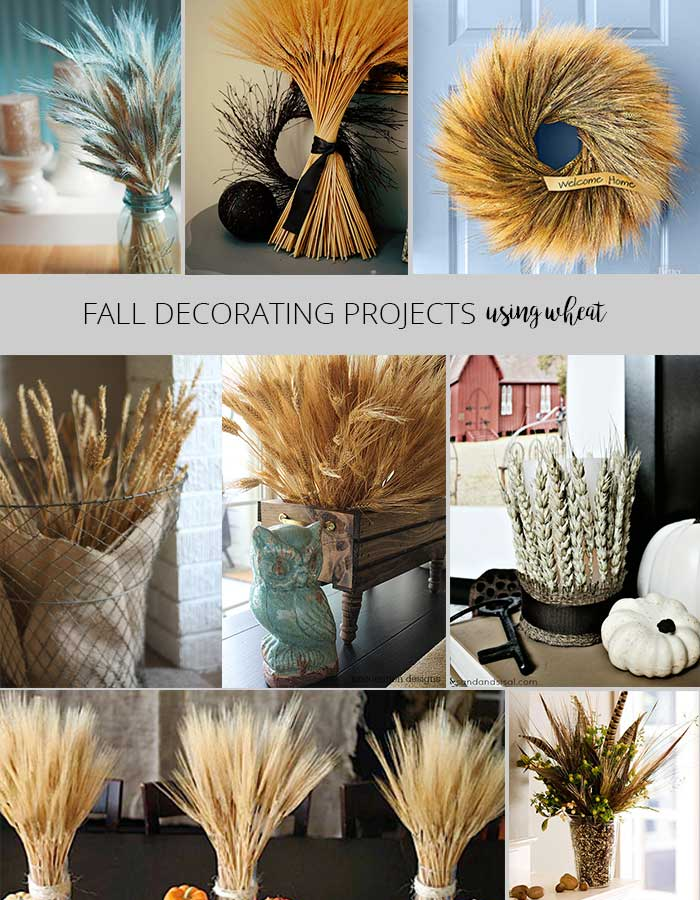 Fall decorating projects - decorating with wheat