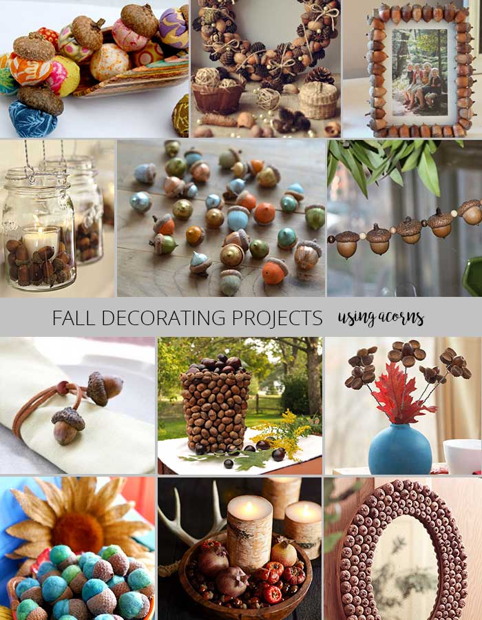 fall decorating projects - decorating with acorns