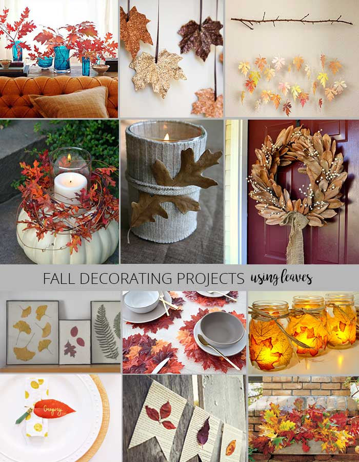 fall decorating projects - decorating with leaves