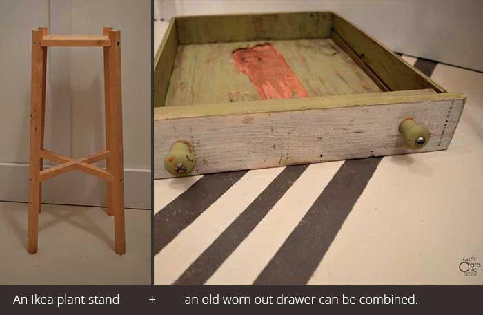 Ikea table hack parts