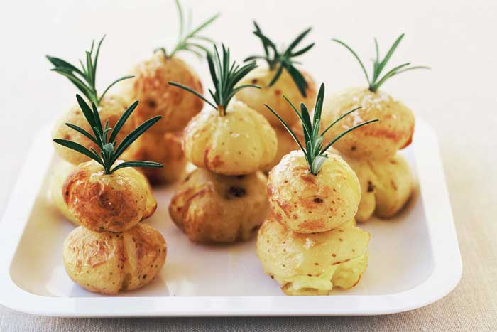 christmas tree roasted potatoes