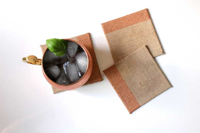 DIY Christmas gifts burlap coasters