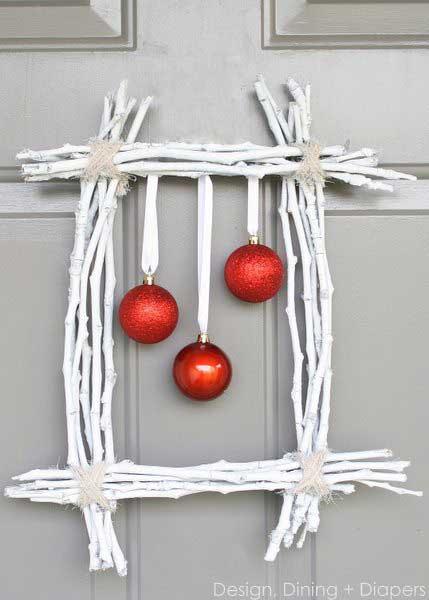 Christmas diy twig wreath