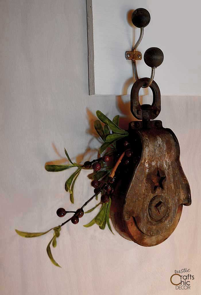 pulley with florals