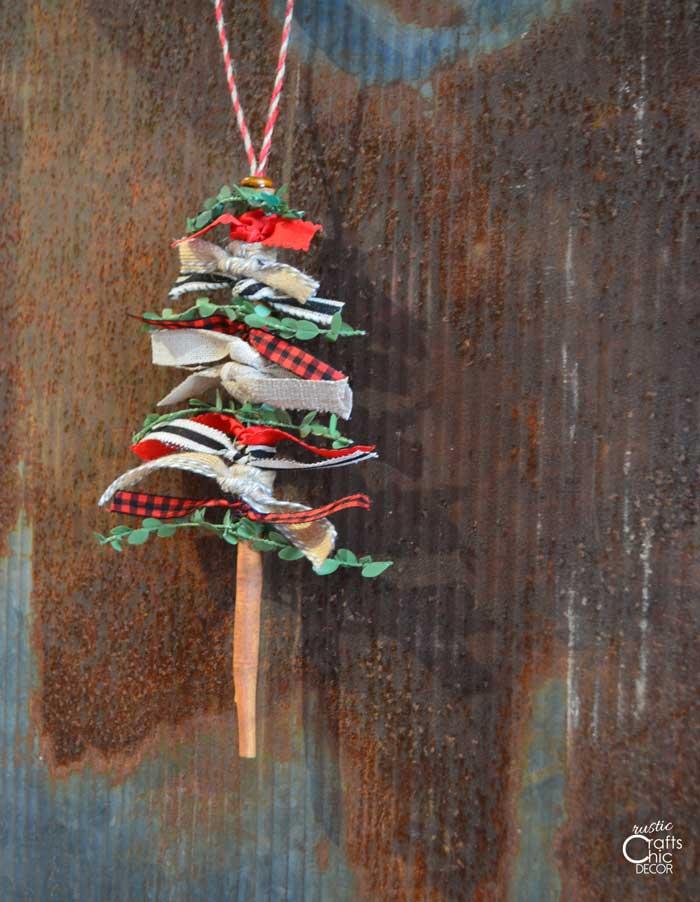 ribbon tree christmas ornament