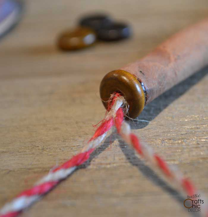ribbon Christmas tree ornament tutorial step three