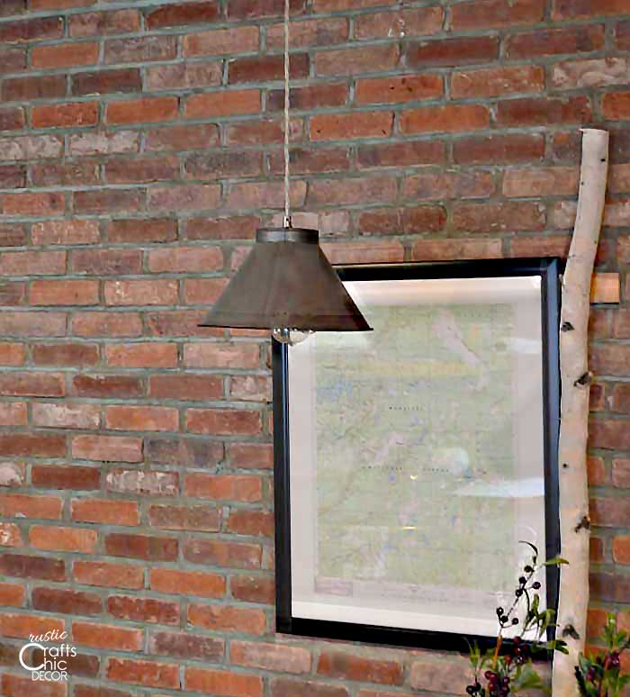 upcycled kitchen sifter pendant light