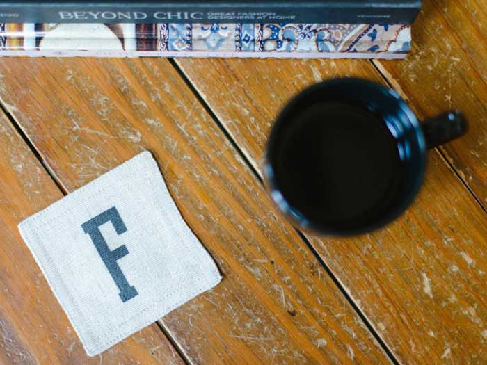 craft coasters from fabric