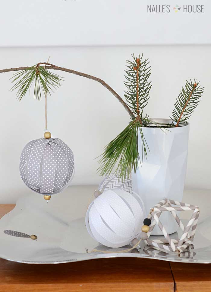 homemade christmas ornaments from paper