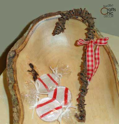 diy rustic candy cane ornament