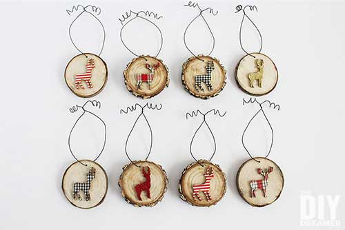 diy rustic deer ornaments