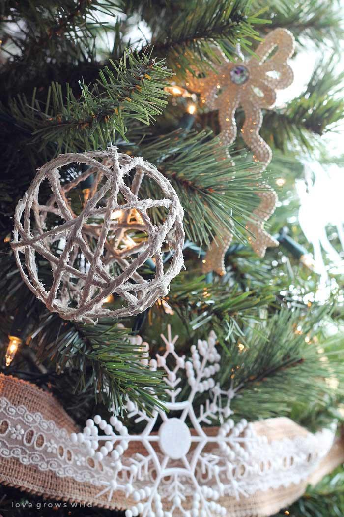 diy twine ball christmas ornament