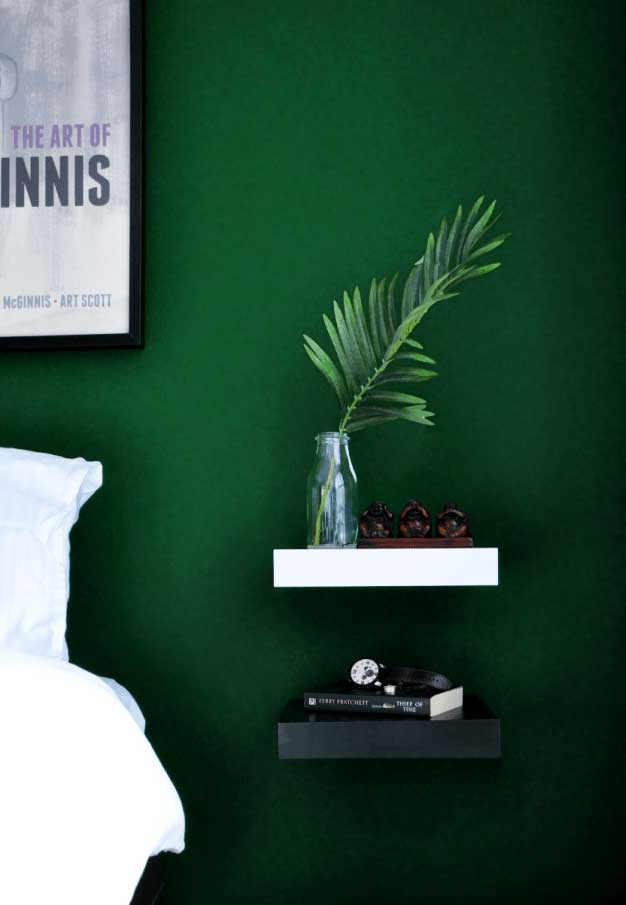 floating shelves nightstand