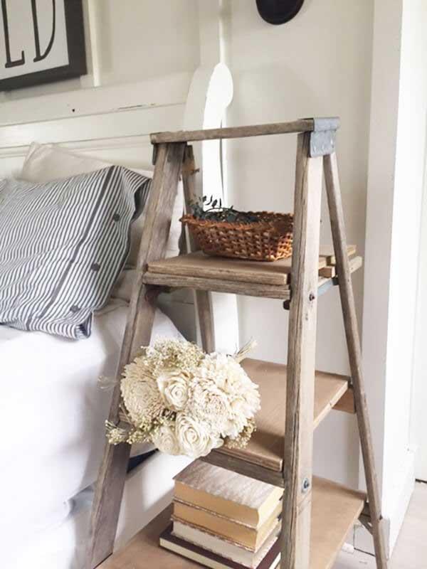 creative ladder nightstand