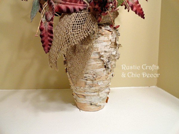 easy home projects - diy birch bark vase