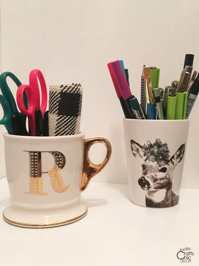 coffee mug craft storage