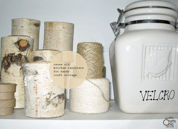 canisters for craft room organization