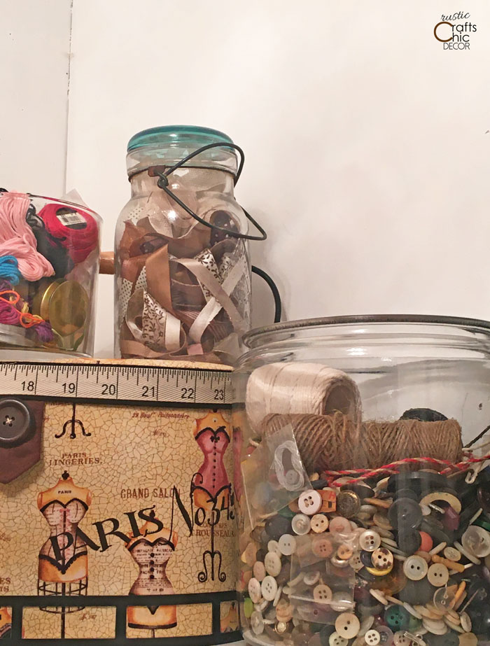 glass craft storage containers