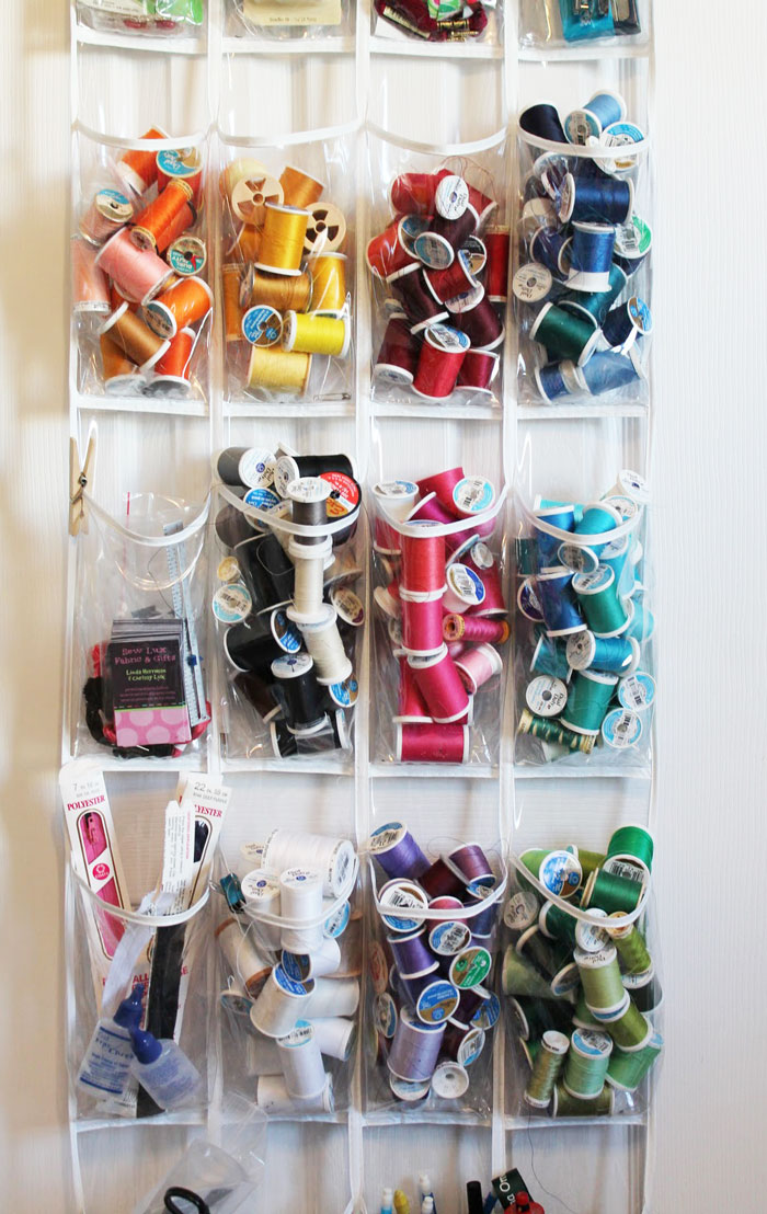 shoe organizer used for thread