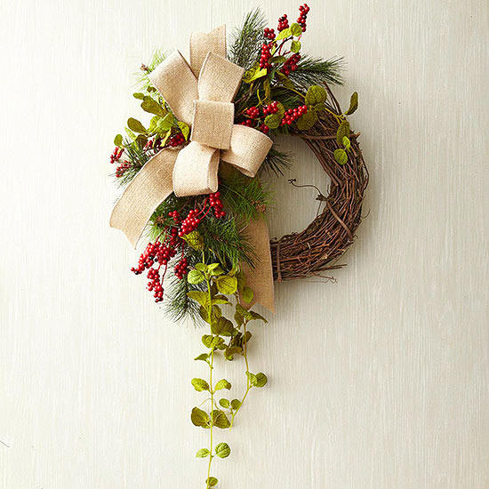 christmas grapevine wreath