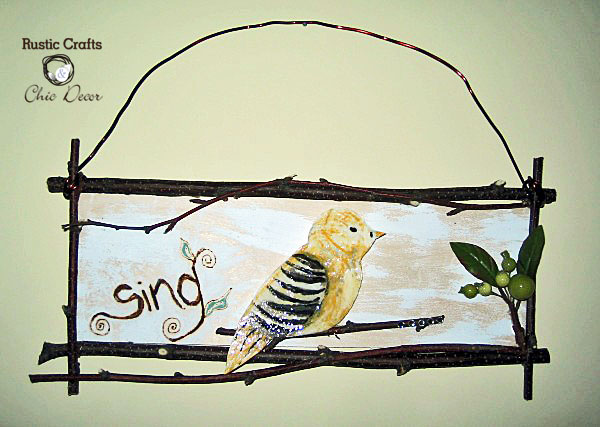 bird plaque by rustic-crafts.com