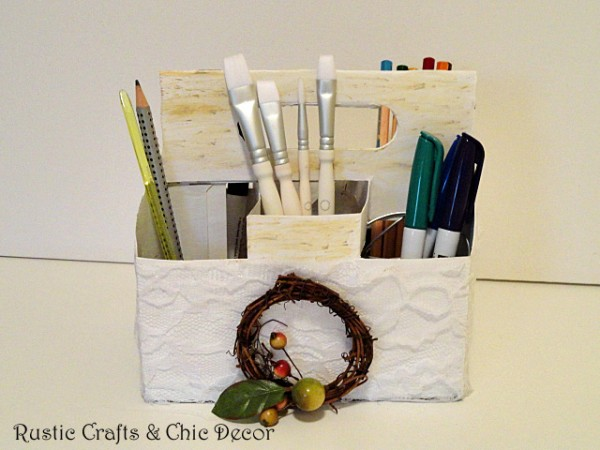 recycled six pack container storage caddy