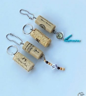 how to make wine cork keychains