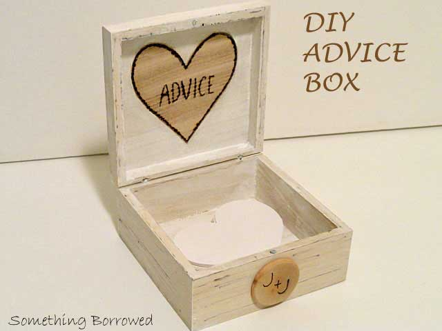 rustic wedding advice box
