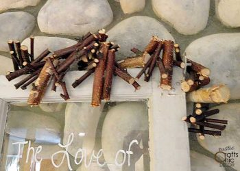 diy birch branch garland