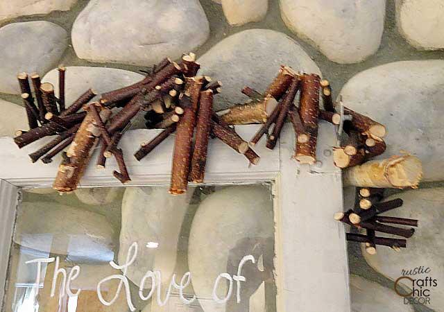 diy birch branch garland