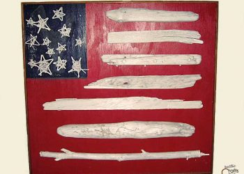 driftwood flag craft