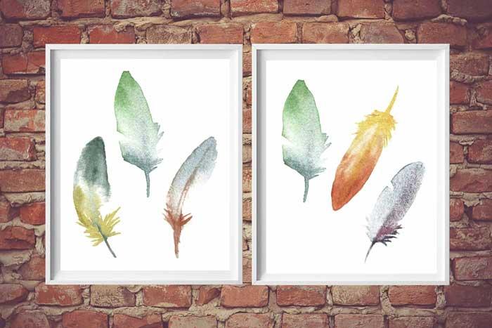 feather art printables