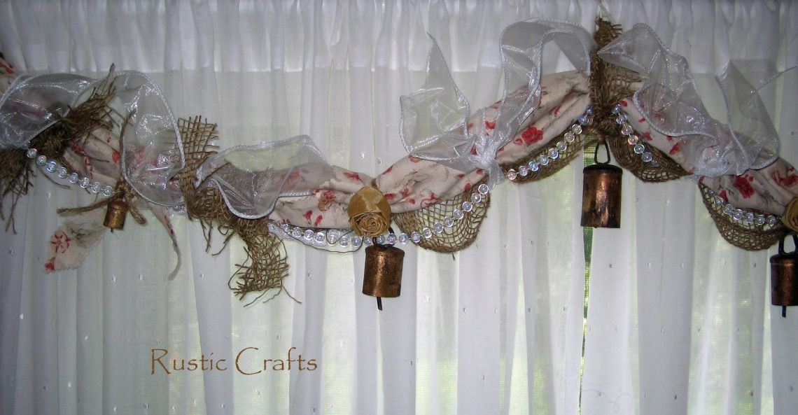 How To Make A Rag Garland Window Swag Rustic Crafts