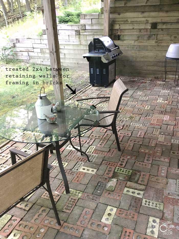 finished diy brick patio