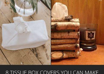 rustic diy tissue box covers