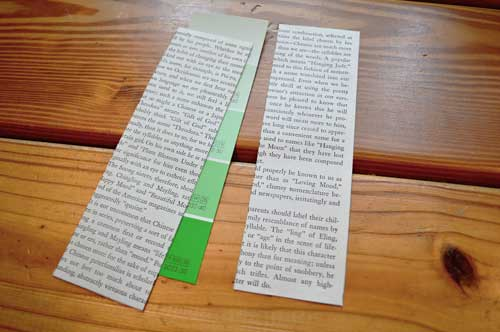 glue book pages to card stock