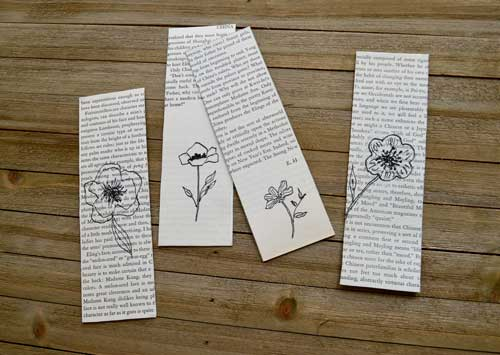 flower sketches on book pages