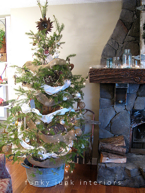 rusty metal Christmas tree
