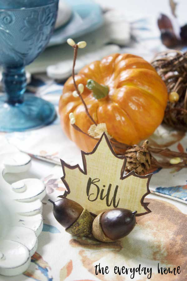 diy acorn place card holders