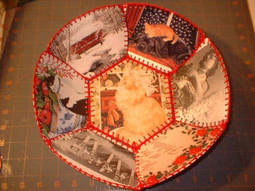 recycle christmas cards into christmas decor  rustic
