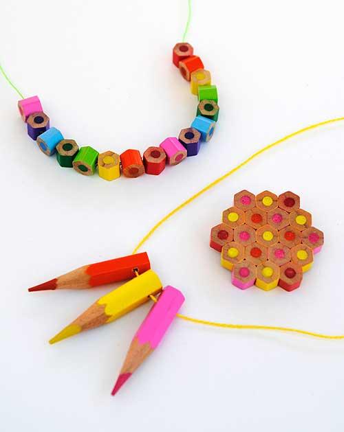 colored pencil jewelry mini gift