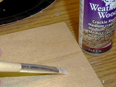 painted base coat on wood